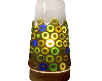 Full Circle, Diverted series, Recycled Glass Mosaic Lamp