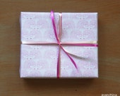 """Small Gift Wrapping Paper // Pink Hedgehogs - 12.5"""" x 18.75"""""""