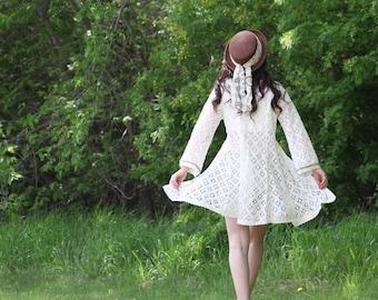upcycled clothing, sustainable fashion, romantic lace day coat . thursdays child . XS - S