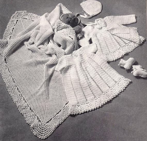 PDF Baby Crochet Pattern / Christening Robe Baptism dress