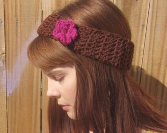 Adorable Crocheted Headband with Flower