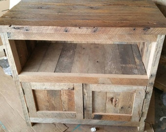 YOUR Custom Made Rustic Barn Wood Entertainment Center, TV Stand or Cabinet with Free Shipping