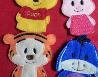 Bear and Friends Finger Puppet Set