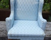 Miniature Dollhouse French Blue Chair 1:12 Size