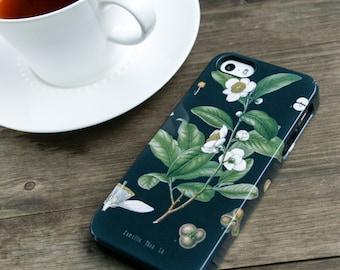 Tea Lovers iPhone 6 Case, Black Tea iPhone 5S Case Tea Leaves iPhone SE Case Botanical iPhone Case, iPhone 6S Plus Case