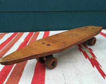 OLLIE. Vintage Wooden Skateboard - Homemade Skateboard - For the Love of Skateboarding - Man Cave Decor - Fathers Day Gift - Shop Display