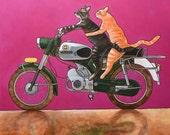 "214 Zündapp Cats – print 38x38cm/15x15"""