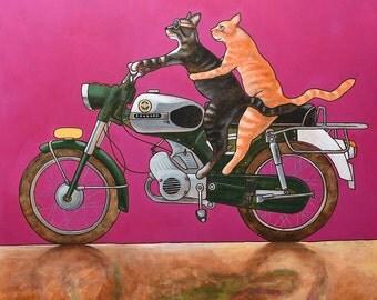 "214 Zündapp Cats – print 27x27cm/10.5x10.5"""