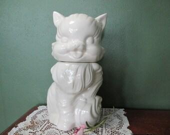 Fluffy Kitten Cookie Jar American Bisque Cat