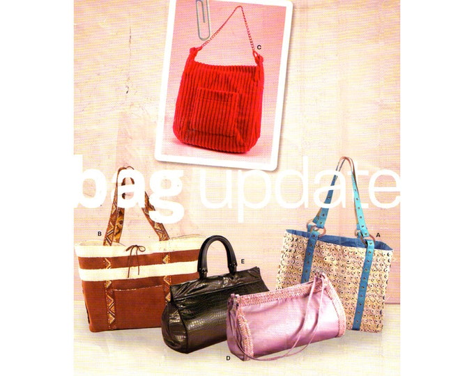New Look 6545 Bags & Purses Sewing Pattern Tote Bag Shoulder Bag Purse