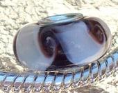 European Style Pugster  Murano Glass Bead