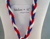 Sensory Jewelry size Medium red, white and blue