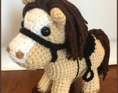 Jack the Pony PDF Crochet Pattern Amigurumi Horse and Saddle Cowboy