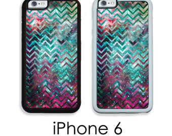 iPhone 6S 6 or PLUS Chevron Space Phone Case For iPhone Chevron Galaxy Nebula Space Your Trim Choice Hard , Rubber or Tough Cases