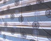 3.5 yards VTG fabric: stripes & medallions