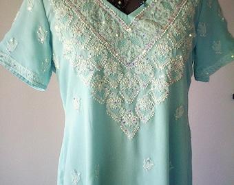 vintage embroidered dress, indian dress, bohemian clothing, gypsy dress, hippy dress, embroidered clothing