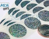 Glitter 1″ Round Scratch Off Labels