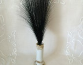 Midnight Black Aigrette Feather for Hat or Headband...Egret Hair Accessory...Millinery