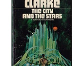 The City and the Stars vintage paperback Arthur C Clarke classic science fiction billion years in future utopia dystopia - Free US shipping