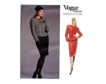 Vogue Anne Klein Jacket and Skirt Pattern 1980s Pencil Skirt Fitted Jacket Vintage Vogue Sewing Pattern Anne Klein Vogue 1976 Bust 30 31 32
