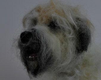 Needle felted dog. Needle felt dog. Felt dog. Dog Sculpture. Felted animals. Custom portrait of your dog.