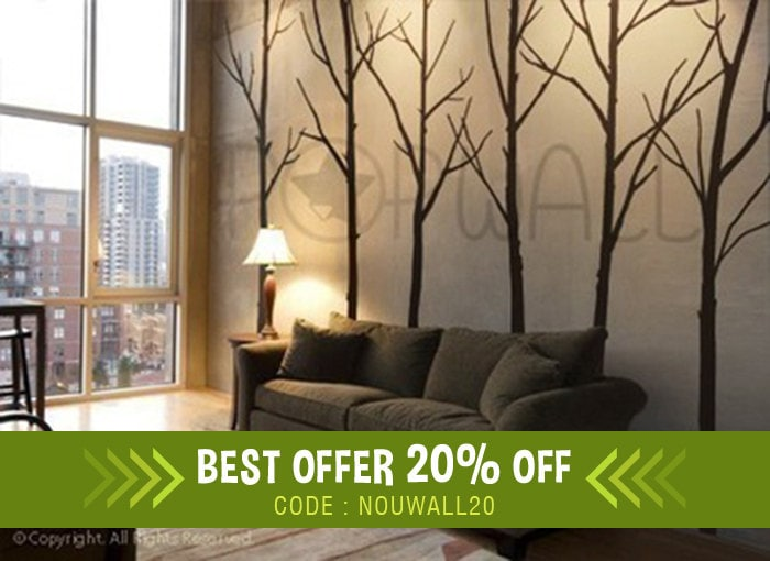 Tree Wall Decal Wall Stickers Winter Tree Decal Wall - Wall decals in living room