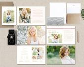 Photography Magazine Template - Senior Photographer Magazine - High School Graduation - Photo Marketing Templates - Digital Pricing - m0211