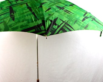 Rare Vintage 60s Green Umbrella Parasol