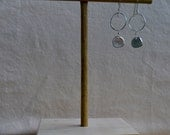 Juicy silver pendent on simple sterling silver earrings with hand forged hoop