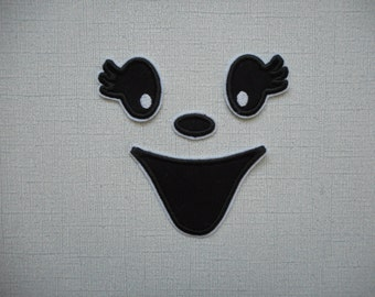Free Shipping Ready To Ship   Ghost Face Machine Embroidery iron on applique