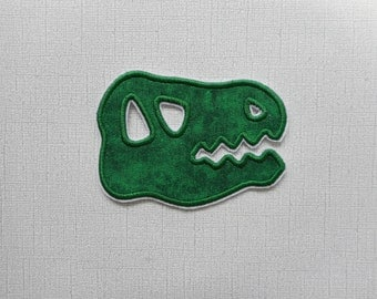 Free Shipping Ready to Ship Dinosaur Skull Fabric Iron on applique