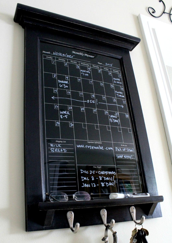 Electronic Calendar Planner : Wall decor perpetual black dry erase calendar family planner
