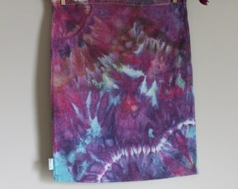 Reusable Gift Bag. Bulk Food Bag. Produce Bag. Large. Linen Blend. Hand Dyed. Ice Dyed.