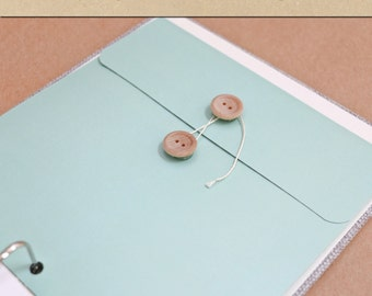 Keepsake Envelope - Mint -  Include in your Two Giggles Baby Album