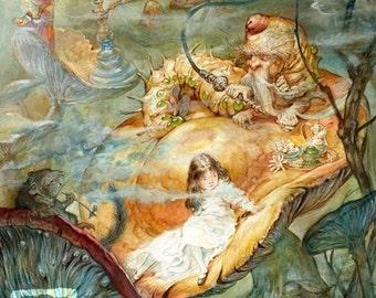 Caterpillar (print) - Alice in Wonderland