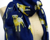 Labrador Retriever Infinity scarf  Dog Pattern Scarf Animal Printed Scarf Circle scarf, Scarves, Mother's Day Gift Ideas For Her Women
