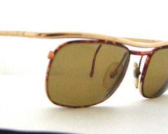 Mens 1990s Eyeglasses // 90s Vintage Designer Frames // Tortoiseshell // Italy // Model  4107 y342 // Christian La Croix