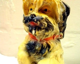 Early Vintage Chalkware Dog