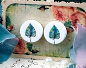 Buy 1 Get 1 Free - 20pcs 15mm (WC75) Round Handmade Photo Wood Cut Cabochon (Back White)