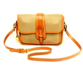 Dooney and Bourke Equestrian Cross Body Bag // Vintage Mushroon & British Tan AWL Taupe