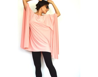 Long Sleeve 'Sweet Thing' Blouse- Long boxy top with kimono sleeve, Off the shoulder evening shirt for women