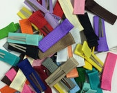 "50 - MINI Solid Lined 1- 3/8"" (35mm) Alligator Clips - Single Prong - You Choose Colors - No Slip - Made To Order - No Slip Mini Hair Clips"