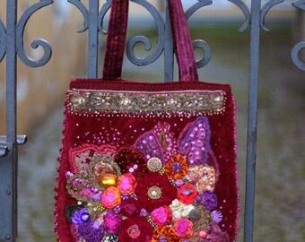 Renaissance-  ornate  wearable art,  romantic purse