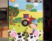 Extra Large Birthday Card for Children - Farmer Cows & Tractor