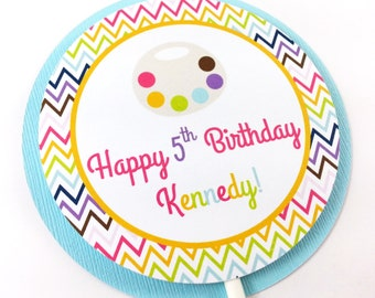 Art Party Cake Topper, Paint Party Cake Topper, Paint Party Smash Cake Topper, Art Party Decoration