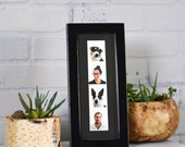 """Photo Booth Picture Frame 4x10"""" for Photo Strip in 1x1 Flat Style with Vintage Black Finish - IN STOCK Same Day Shipping - Photo Booth Frame"""