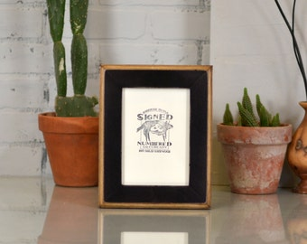 "5x7"" Picture Frame in 2-Tone Style with Vintage Black Finish - Can Be Any Color - 5x7 Photo Frame - Wooden Rustic Black Picture Frame 5x7"