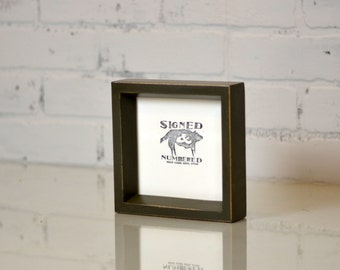 "5x5"" Square Picture Frame in Park Slope Style with Vintage Sable Finish - Can Be Any Color - 5 x 5 Photo Frame - Handmade"
