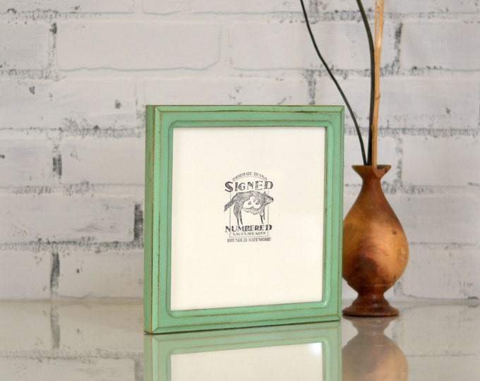 """8x8"""" Square Picture Frame in Double Cove Style and Color OF YOUR CHOICE - Handmade Wooden 8x8 Photo Frame - Square - Picture Frame 8 x 8"""
