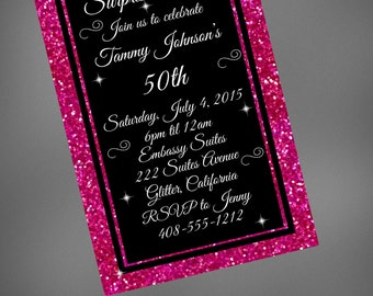 50th Birthday Invitation Invite Surprise